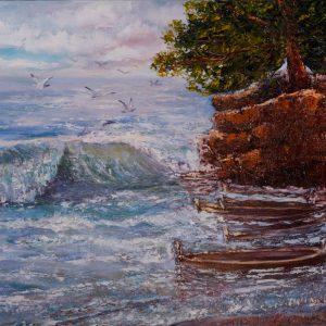 Морской пейзаж. Прилив