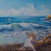Морской пейзаж с ребенком.