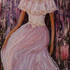 Девушка в кружевном платье
