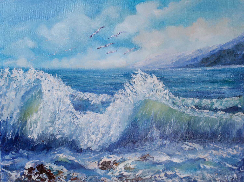 Морской пейзаж.Волна.